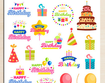 birthday stickers ; il_340x270