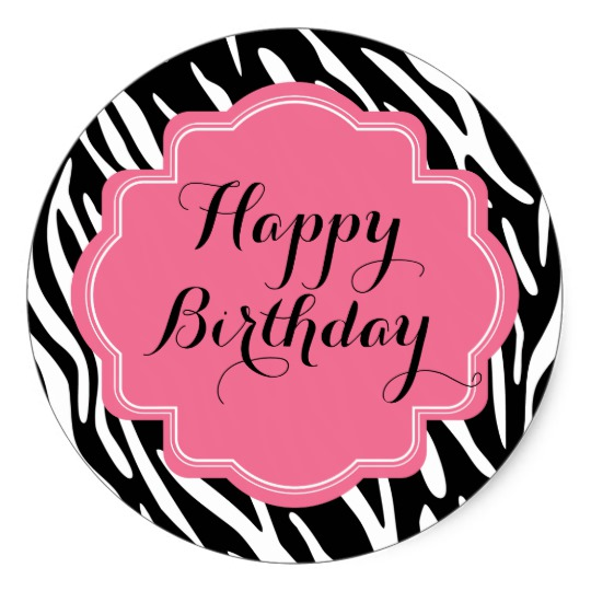 birthday stickers ; trendy_zebra_print_pink_happy_birthday_stickers-r854872e1dcaa46a2bcb5463ddbed54a0_v9wth_8byvr_540