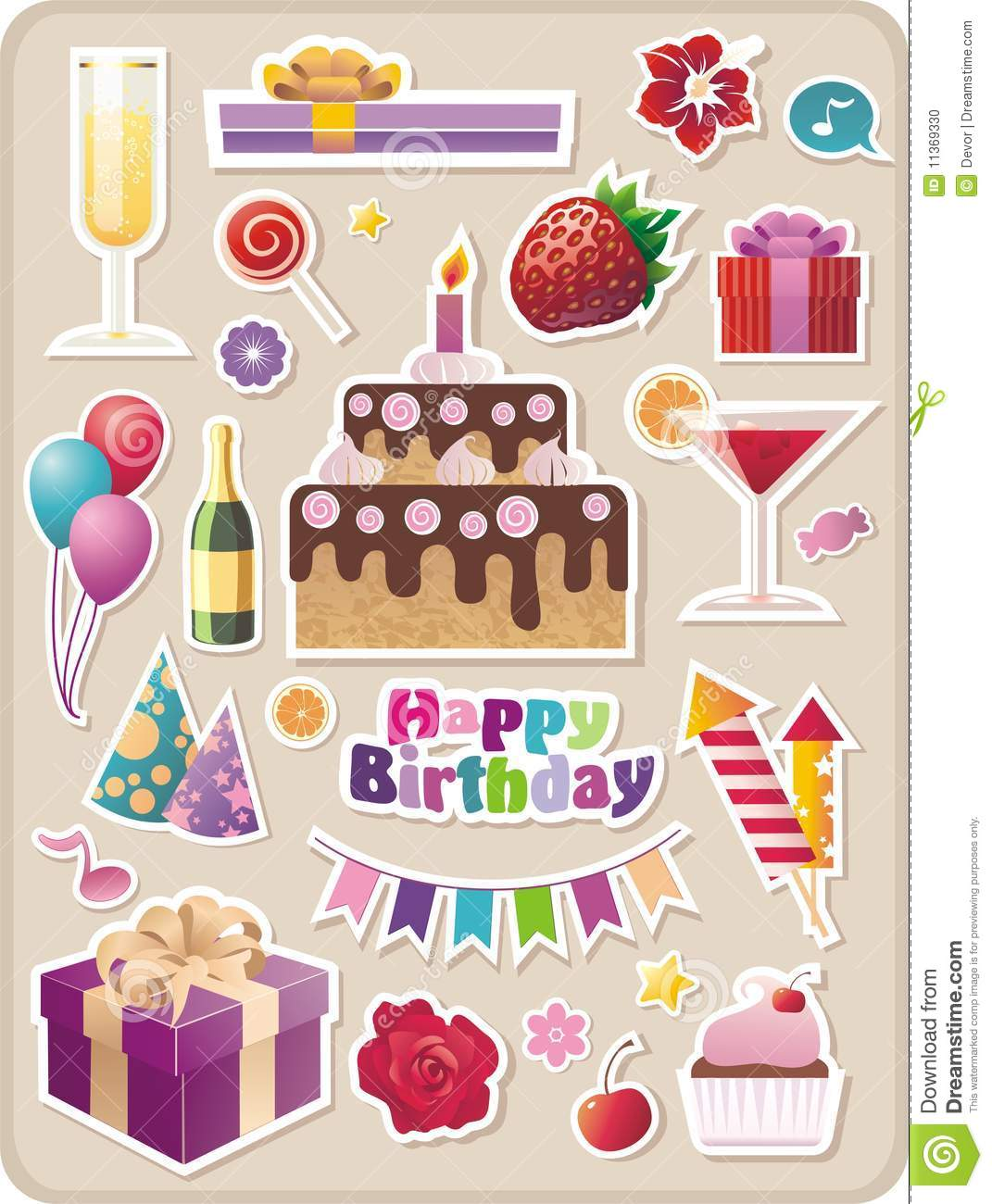 birthday stickers download ; birthday-party-stickers-11369330