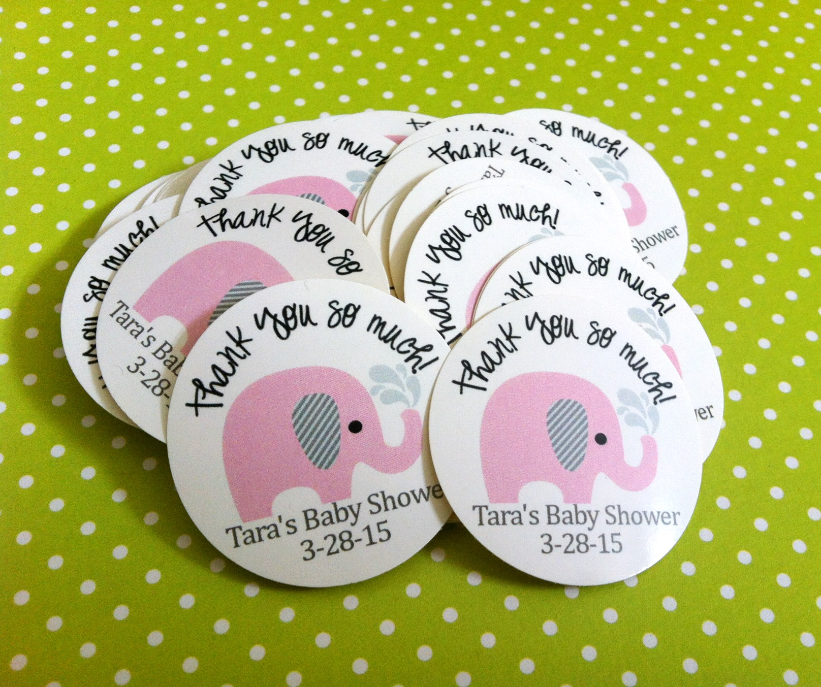 birthday stickers for babies ; Pink-Elephant-Stickers-for-Baby-Shower-or-Birthday