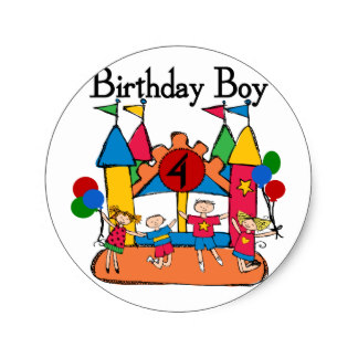 birthday stickers for boys ; big_bounce_boy_4th_birthday_tshirts_and_gifts_classic_round_sticker-r8daf8cdc07d14f4f99e303334984b4b5_v9waf_8byvr_324