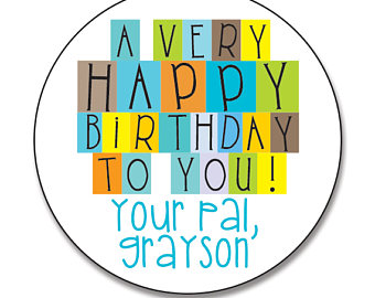 birthday stickers for boys ; il_340x270