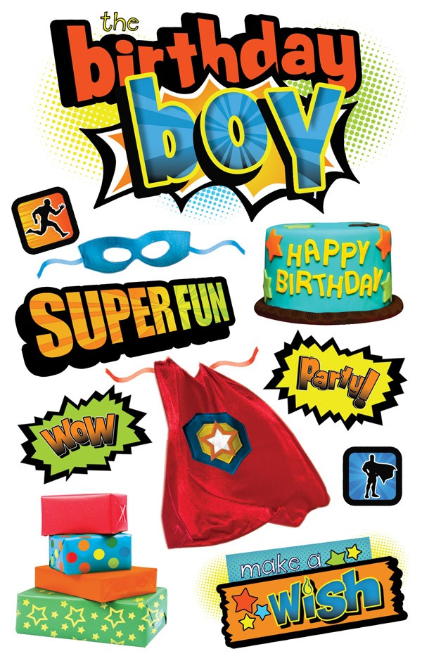 birthday stickers for boys ; stdm-0173e_1