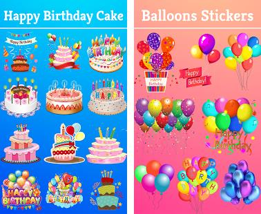 birthday stickers for messenger ; photoBeautyPlus