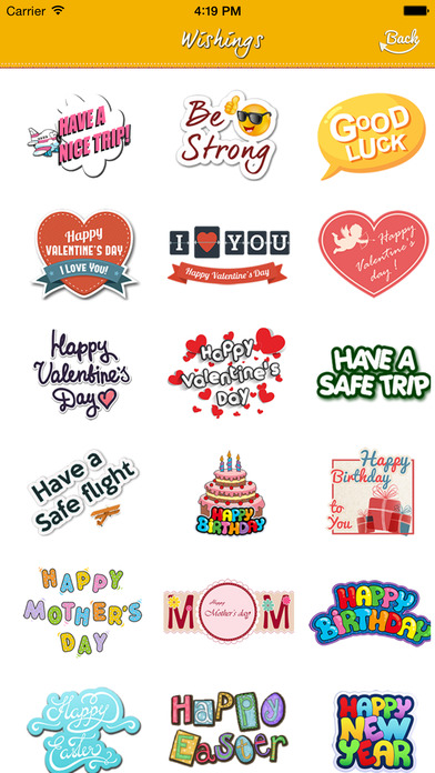 birthday stickers for messenger ; screen696x696
