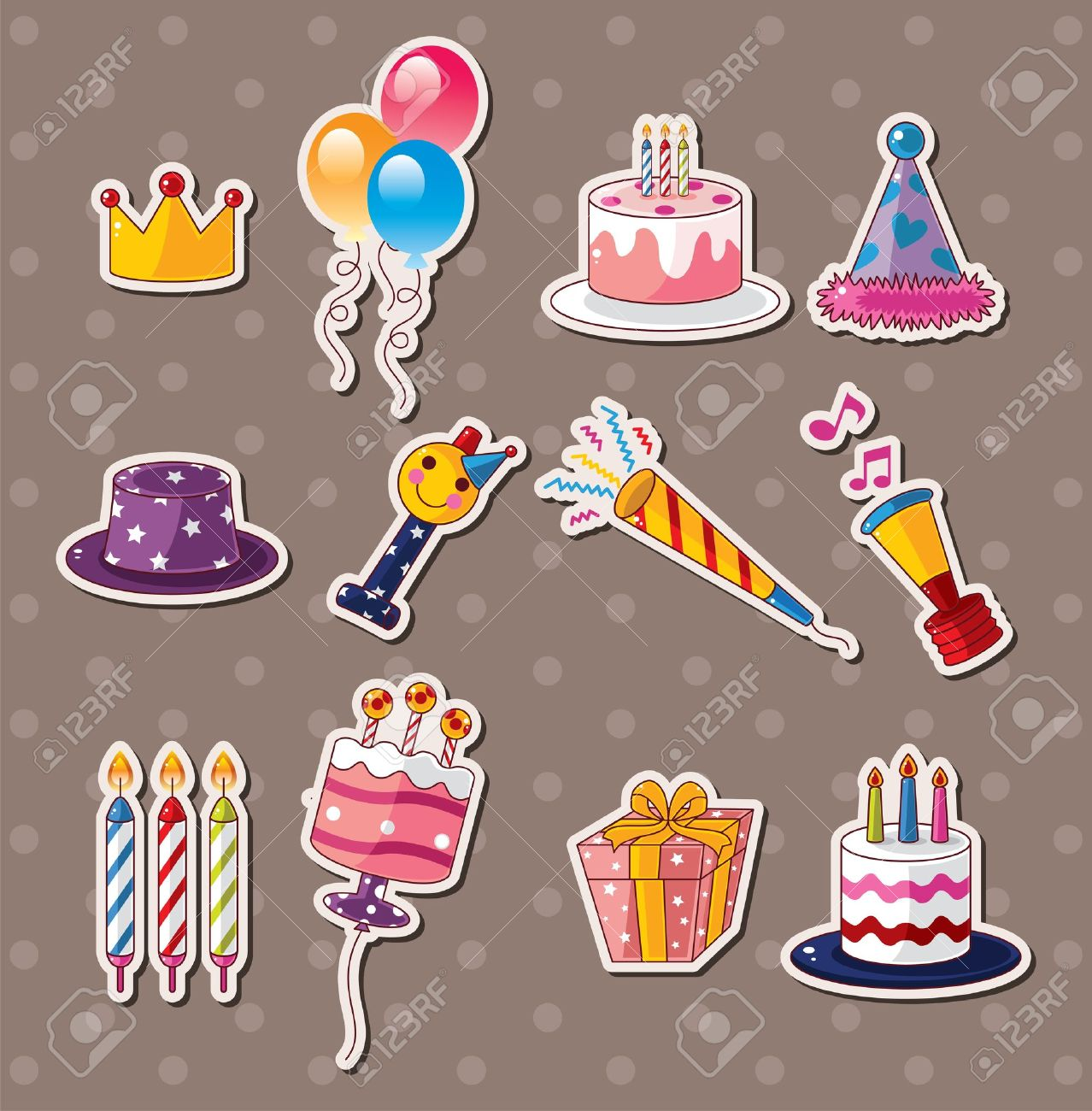 birthday stickers for pictures ; 15325008-birthday-stickers