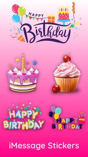birthday stickers for pictures ; 300x0w