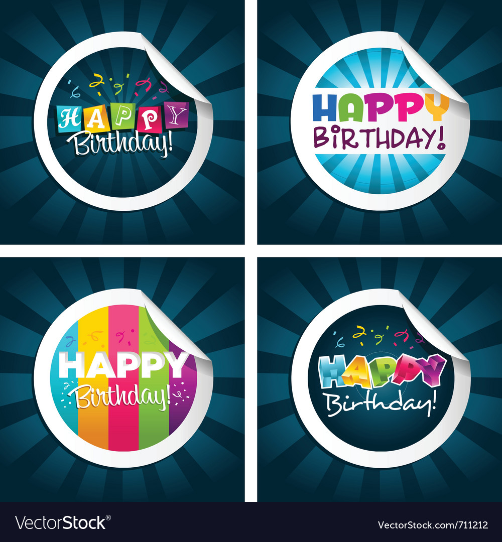 birthday stickers for pictures ; happy-birthday-stickers-vector-711212