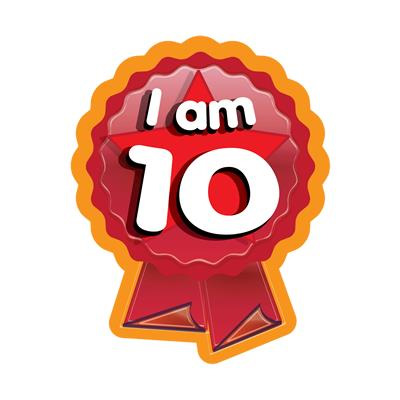 birthday stickers for pictures ; i-am-10-rosette-birthday-stickers-5108-p