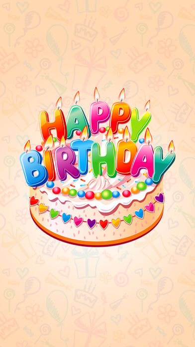 birthday stickers images ; 392x696bb