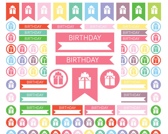 birthday stickers images ; il_570xN