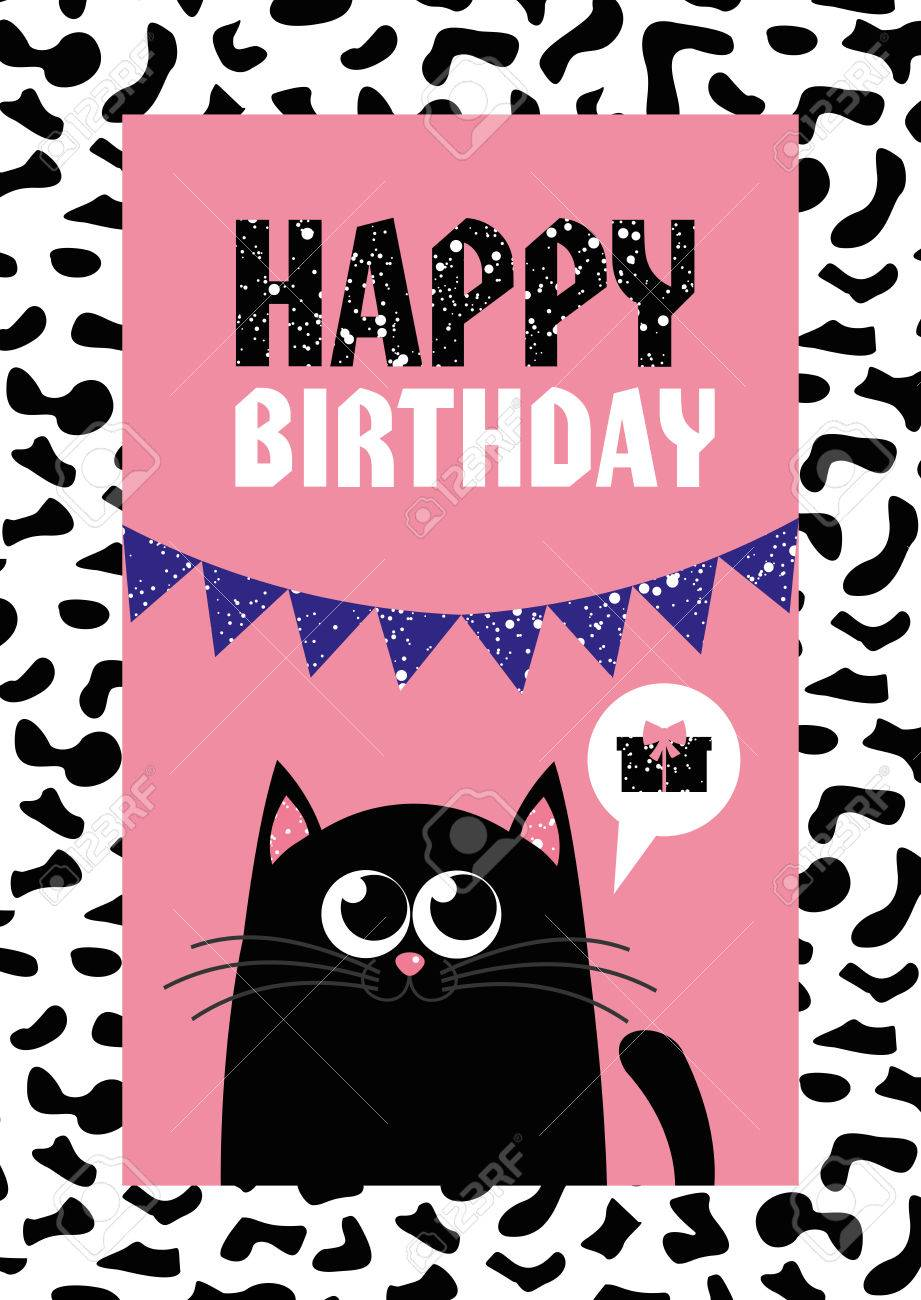 birthday theme cards ; 81779016-cute-creative-cards-templates-with-happy-birthday-theme-design-hand-drawn-card-for-birthday-annivers