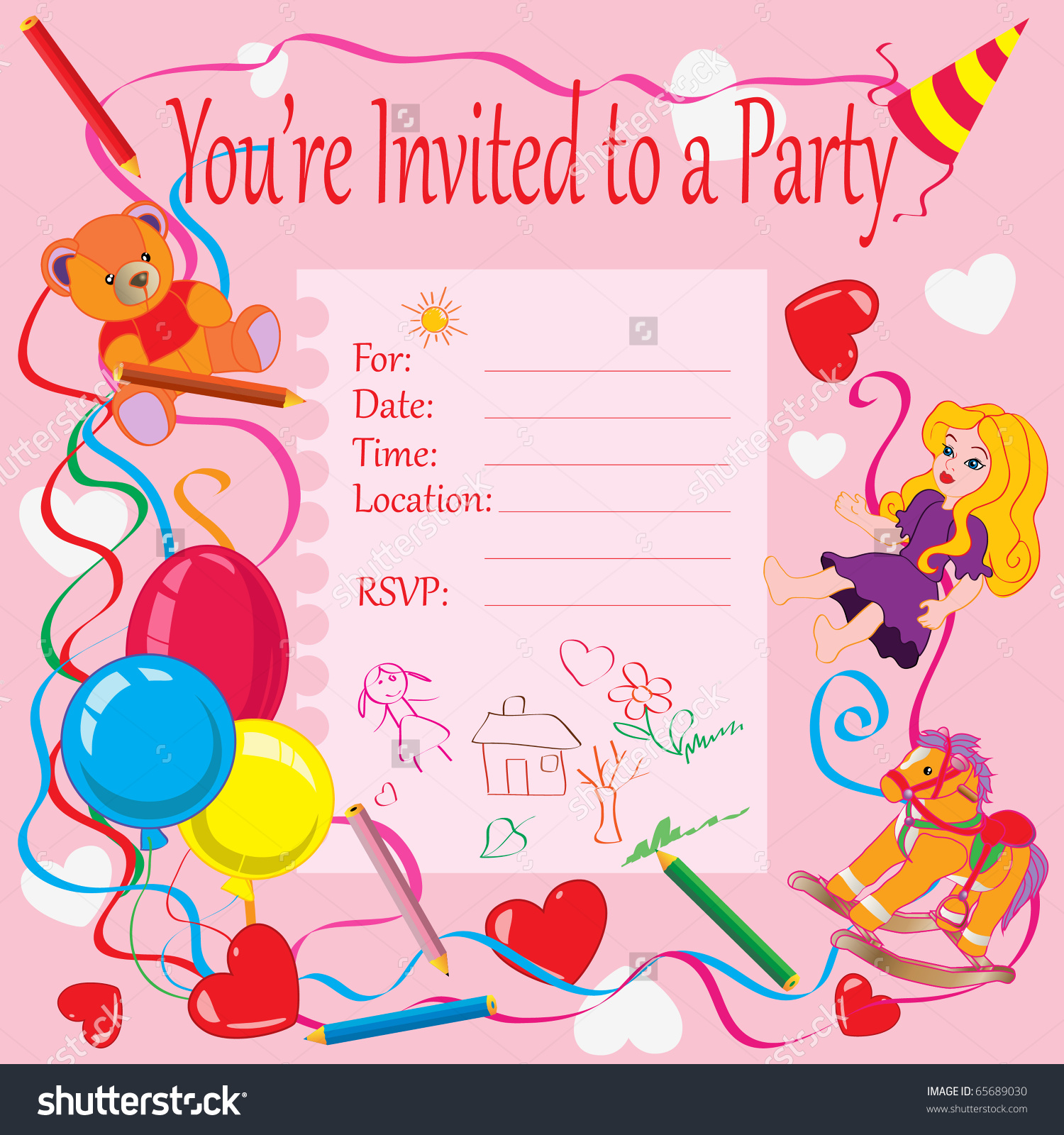birthday theme cards ; kids-birthday-party-invitation-cards-how-to-make-your-own-Birthday-invitations-using-word-1