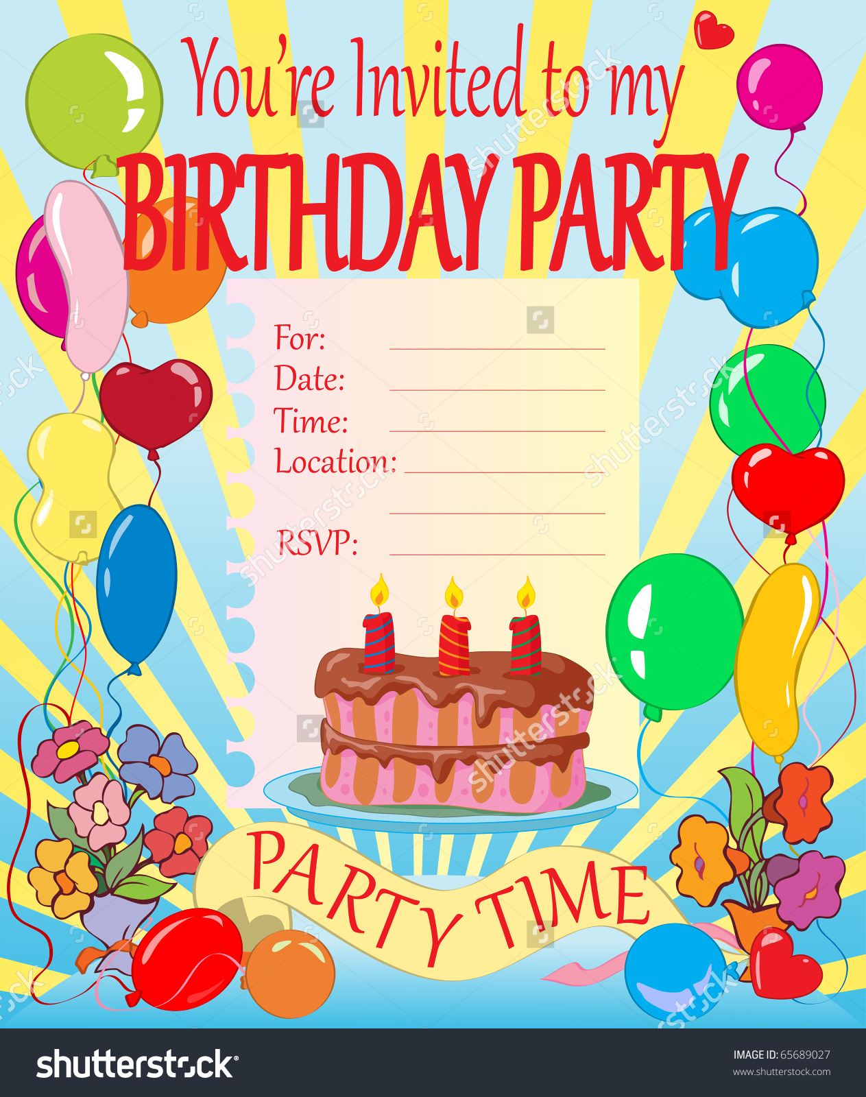 birthday theme cards ; kids-birthday-party-invitation-cards-how-to-make-your-own-Birthday-invitations-using-word-3