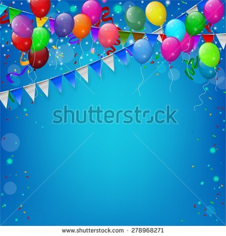 birthday theme photo editor ; stock-vector-happy-birthday-party-with-balloons-and-ribbons-background-278968271