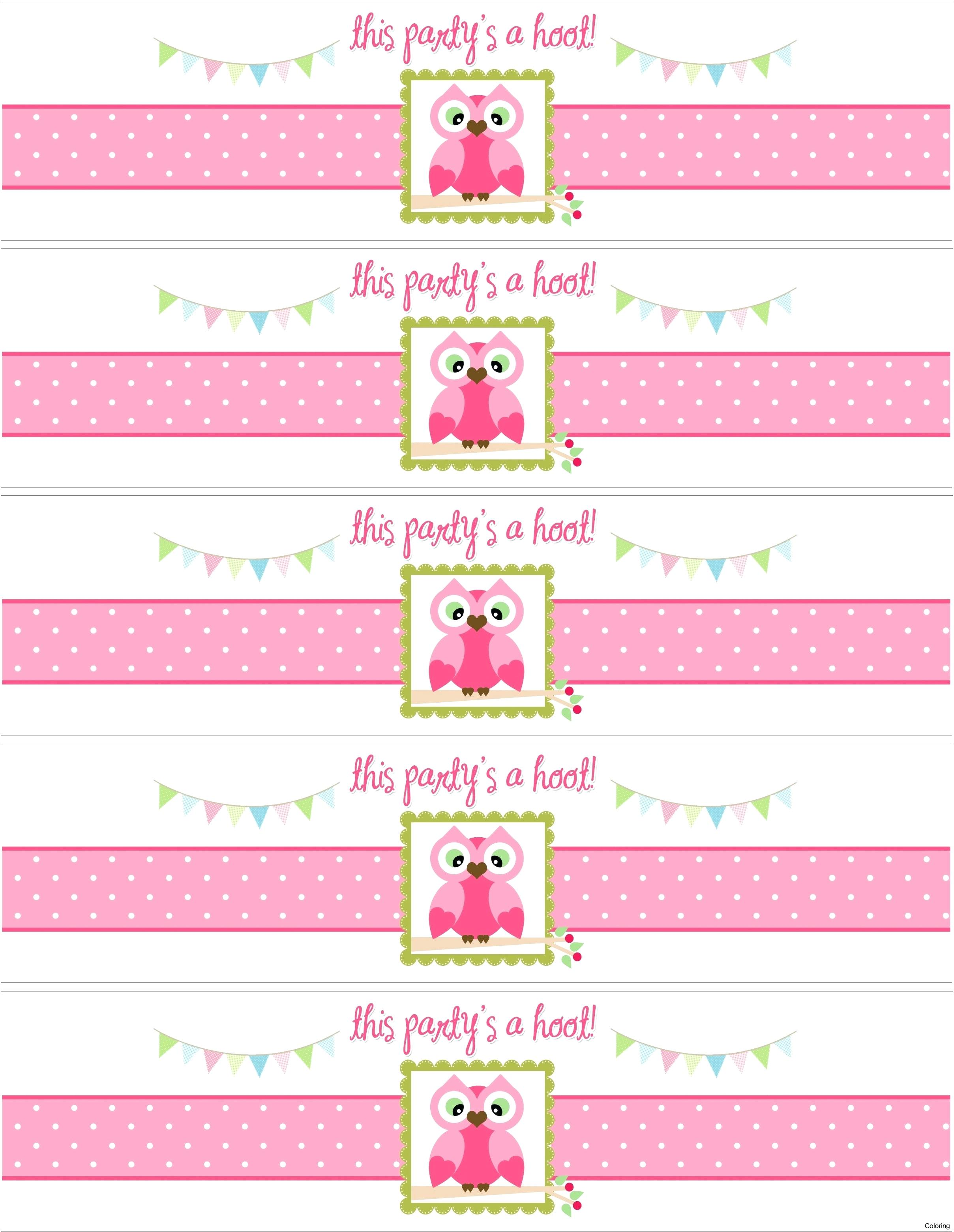 birthday water bottle labels template free ; birthday-labels-template-free-water-bottle-label-printable-coloring-personalized-owl-themed-party-with-sticker