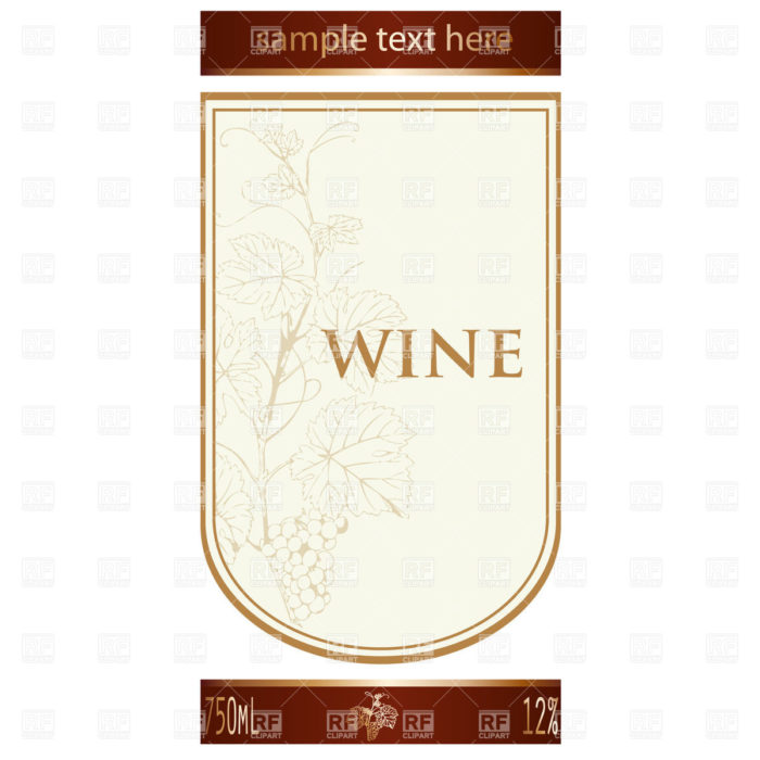 birthday wine label template free ; blank-wine-label-template-free-700x700