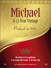 birthday wine labels ; label35a