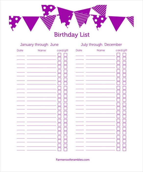 birthday wish list template printable ; 23-birthday-list-templates-free-sample-example-format-throughout-birthday-gift-list-template