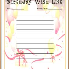 birthday wish list template printable ; personal-template-creative-birthday-gift-list-template-sample-for-children-225x225