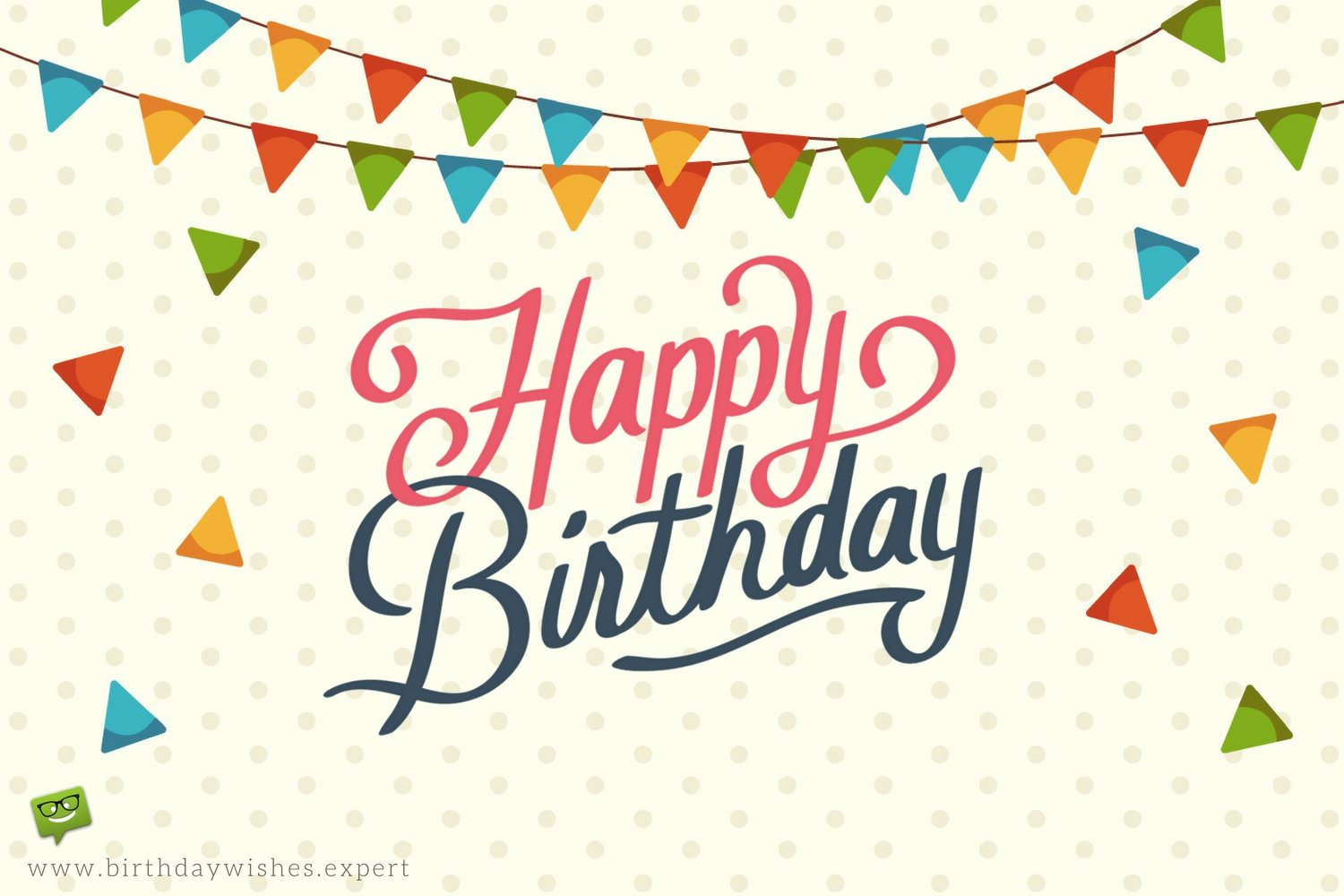 birthday wish pictures for facebook ; Happy-Birthday-wish-on-image-with-garlands-and-confetti-with-dotted-background
