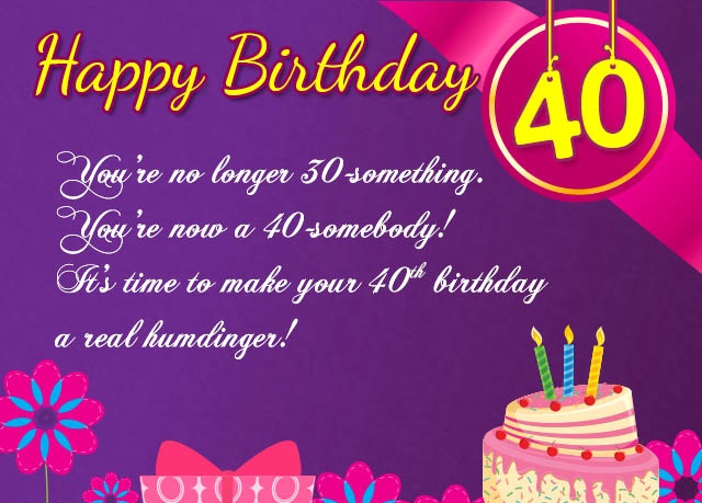 birthday wishes 40th birthday message ; 0dd2f8df4da0d9f3bb697af7759bcd65