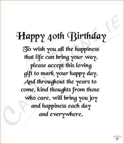 birthday wishes 40th birthday message ; a6a2e27bf54e5f1f6d9e87603be227d8