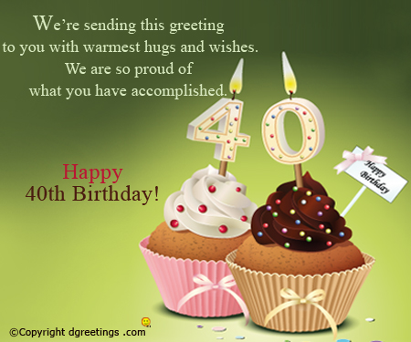 birthday wishes 40th birthday message ; wonderful-start1