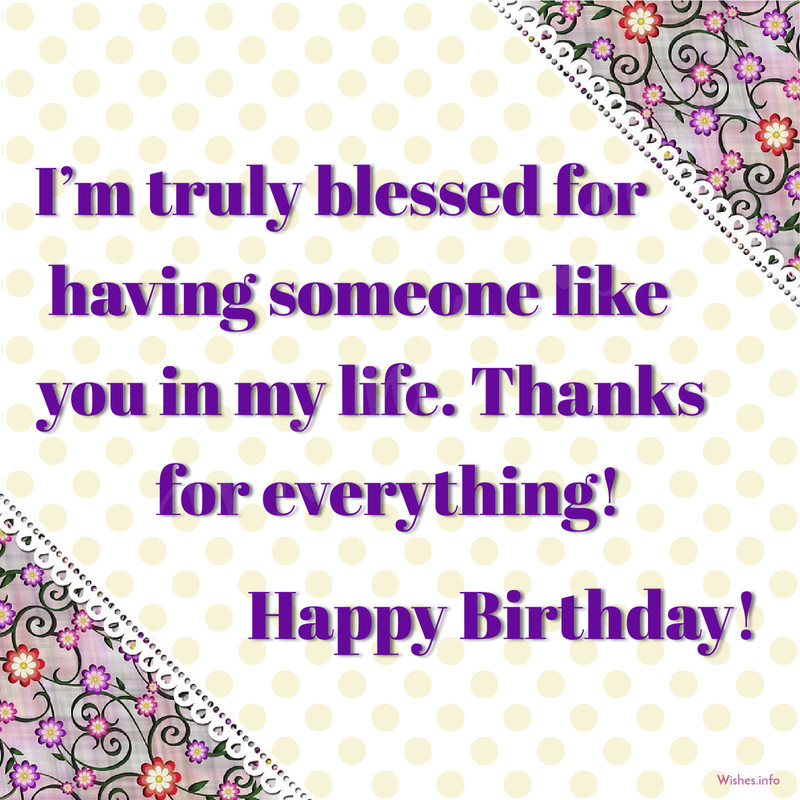 birthday wishes and images ; im-truly-blessed-for