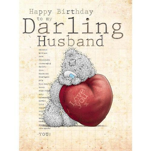 birthday wishes card for husband ; me-to-you-darling-husband-happy-birthday-greetings-card-500x500