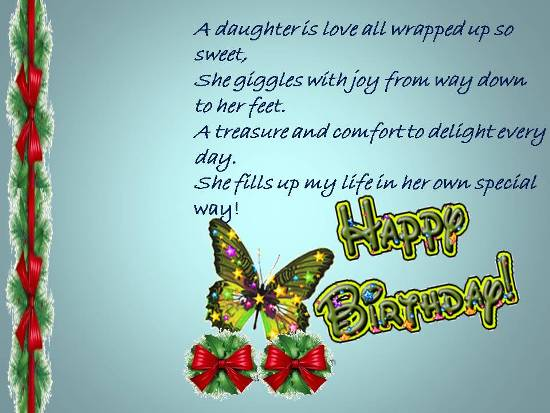 birthday wishes daughter greeting card ; 310814