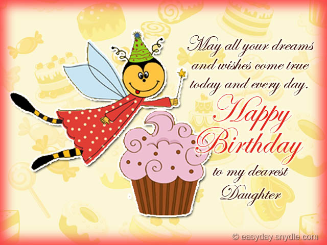 birthday wishes daughter greeting card ; daughter-birthday-cards