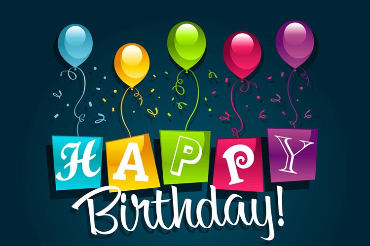 birthday wishes email message ; bottom