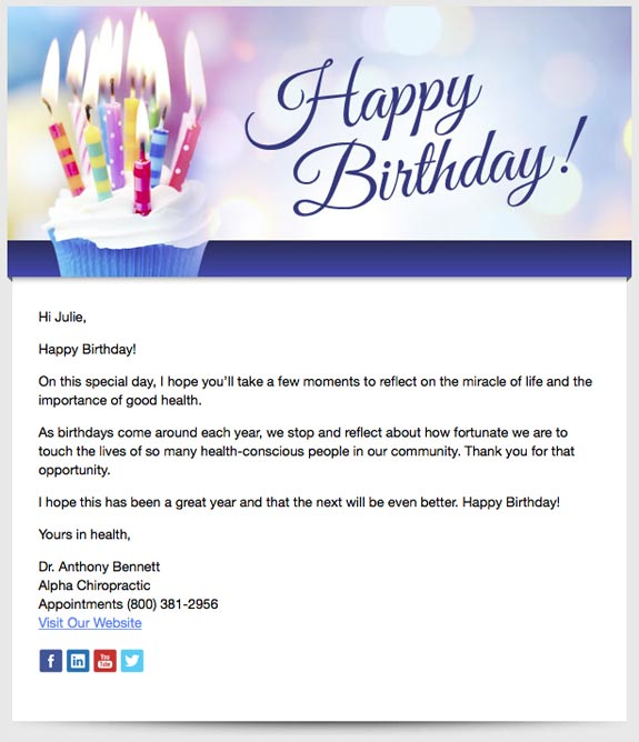 Birthday Wishes Email Message Best Happy Birthday Wishes