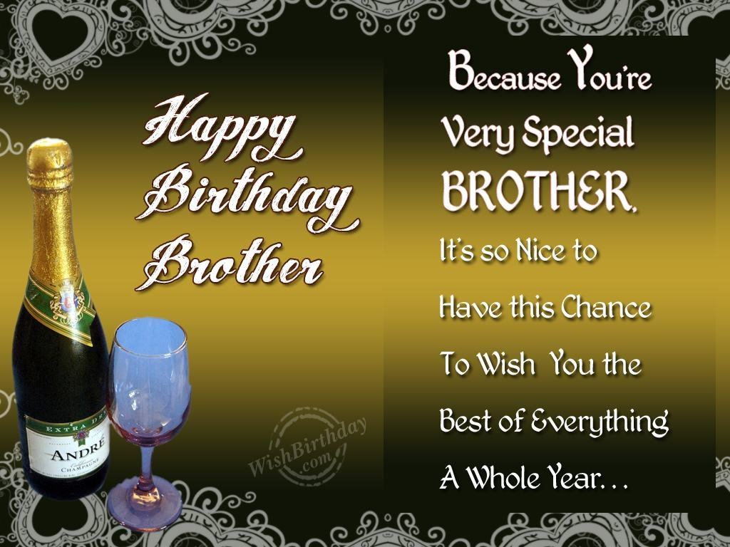 birthday wishes for brother greeting cards ; 1023