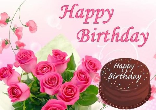 birthday wishes for friend images free download ; amazing-birthday-cards-for-friends-beautiful-birthday-free-download-with-pink-background-chocolate-cake-pink-roses-pink-text-happy-birthday
