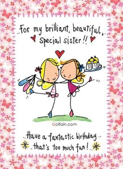 birthday wishes for sister greeting cards ; Awesome-Greetings-Birthday-Wishes-For-Brilliant-Sister