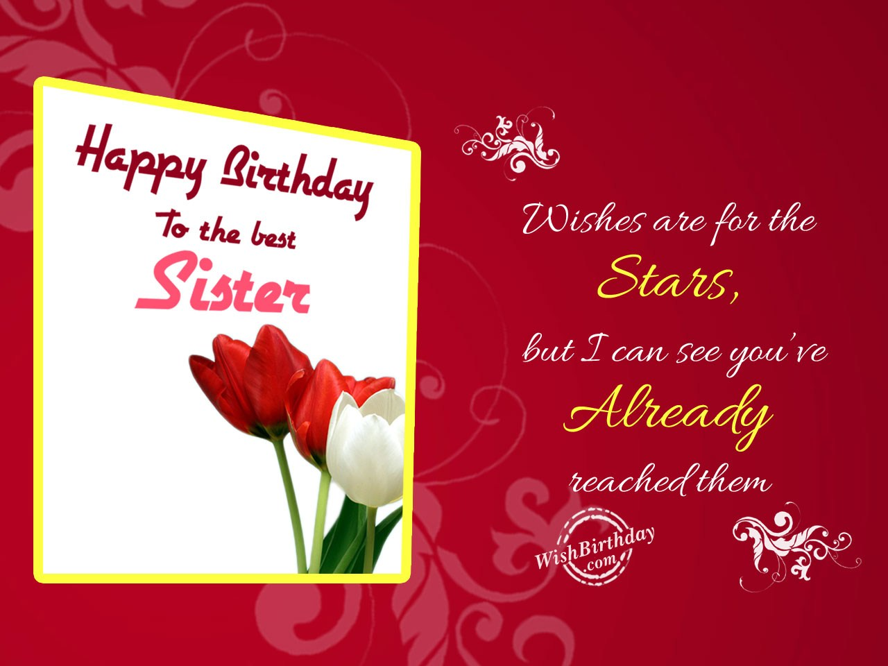 birthday wishes for sister greeting cards ; Wishes-are-for-the-stars
