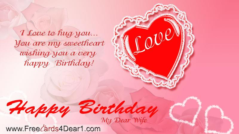 birthday wishes for wife greeting cards ; 453999a096d22d895ba524ea2bde5e16