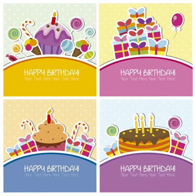 birthday wishes free images ; collection-of-birthday-cards_1042-62