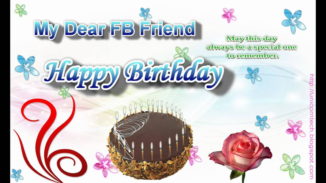 birthday wishes greeting cards for facebook ; maxresdefault