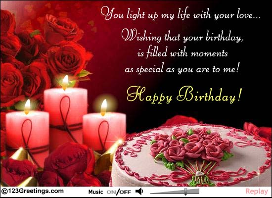 birthday wishes greeting cards for girlfriend ; 08d8769f911855ca4742e91600eecf18