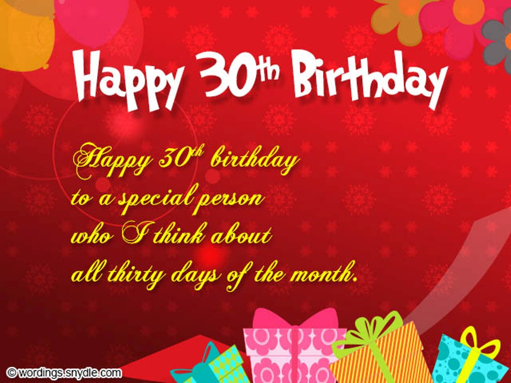 birthday wishes greeting cards for wife ; Happy-Thirtieth-Birthday-To-A-Special-Person-tb1212