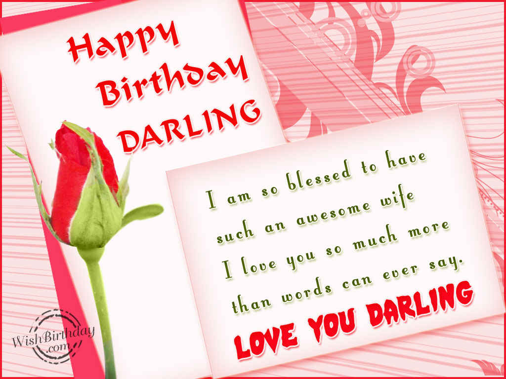 birthday wishes greeting cards for wife ; birthday-wishes-for-wife-Love-You-Darling-Wife-Happy-Birthday-wb2439
