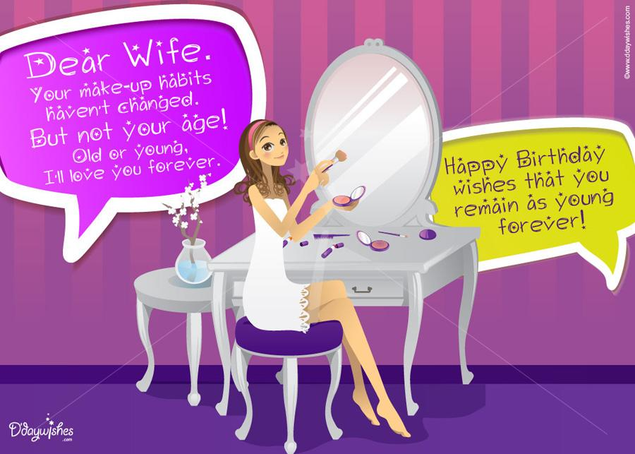 birthday wishes greeting cards for wife ; free-online-birthday-message-for-wife