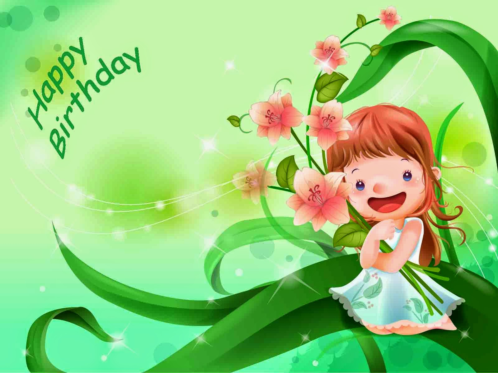 birthday wishes hd images free download ; Cute-Happy-Birthday-girl-vector-image-free-download-HD