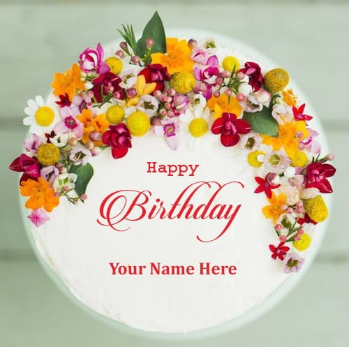 birthday wishes images with name and photo on cake ; beautiful-bday-cakes
