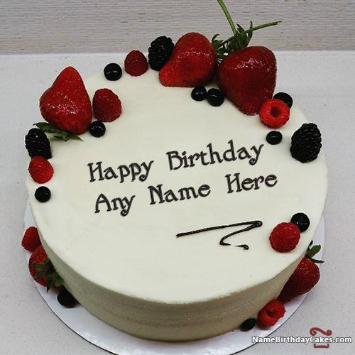 birthday wishes images with name and photo on cake ; best-strawberry-cake-for-boys-happy-birthday-wish-with-name-0f14