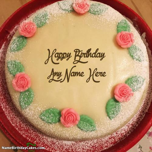 birthday wishes images with name and photo on cake ; happy-birthday-cake-with-name