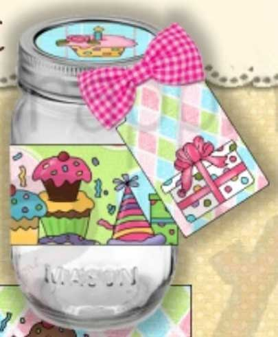 birthday wishes labels ; bwtop